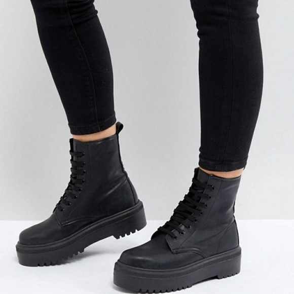 d21c8a339a ASOS Shoes | Design Attitude Lace Up Boots Nwt | Poshmark